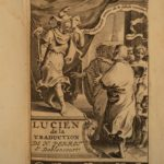 1697 Lucian of Samosata by Ablancourt Greek Satire Roman Empire Assyrian Barbarian Necromancy Demons Occult