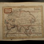 1749 Color Copper MAP of ASIA China Korea Japan Siam Persia India 23cm X 19cm