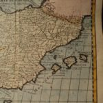 1738 Decorative Color Copper MAP of SPAIN Portugal Baleares Hispania 18cm X 16cm