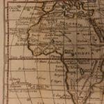 1742 Color Copper MAP of AFRICA Saudi Arabia Egypt Ethiopia Turkey 15cm X 22cm