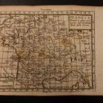 1742 Color Copper MAP of FRANCE Paris English Channel Francia 15 X 22cm