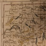 1742 Color Copper MAP of SWITZERLAND Zurich Italy France Geneva 15 X 23cm