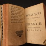 1668 Memoirs of Hugues de Lionne French Politics Spanish WAR Peace Negotiations Federici