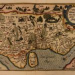1594 Color MAP of Germany Dithmarschen Thietmasiae Holsatiae Matthias Quad