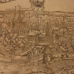 1628 MAP City of Cheb CZECH Republic Sebastian MГјnster Cosmographia Prague Eger
