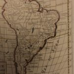 1784 Color MAP of South America Brazil Chile PERU Argentina Amazon Vaugondy