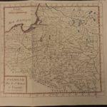 1784 Color MAP of POLAND Prussia Hungary Turkey Turks Baltic Sea Vaugondy