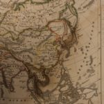 1833 Color Steel MAP of Asia China Japan India Korea Iraq Russia 26cm X 22cm