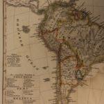1833 Color Steel MAP of South America Brazil Peru Argentina Amazon 26cm X 22cm