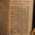 1649 Cornelius Tacitus Annals & Histories Ancient Rome Nero Tiberius 2in1 BLAEU