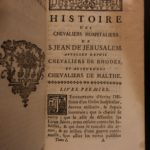1755 History Knights Hospitaller Saint John Crusades Malta Rhodes Templar 7v SET