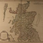 1751 LARGE Color Map of SCOTLAND United Kingdom Scottish Ecosse Robert Vaugondy