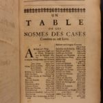 1688 Jacobean English LAW Cases Sir Francis Moore Charles II Jacobite England