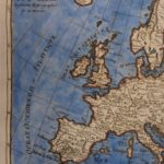 1780 Color Copper Map EUROPE France Spain United Kingdom Italy Bonne 41cm X 27cm