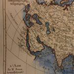 1780 Color Copper Map ASIA China Russia India Arabia Japan Bonne 41cm X 27cm