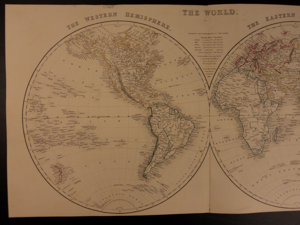 Schilb antiquarian 1861 color steel world map north america europe africa asia 41cm x 32cm gumiabroncs Images