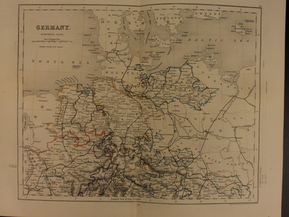 Map Of Germany To Color.Schilb Antiquarian