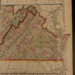 1866 Color Steel Engraved Map of VIRGINIA and West Virginia Roanoke Richmond