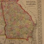 1866 Color Steel Engraved Map of GEORGIA and Alabama American South Dixie CSA