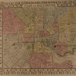 1866 Mitchell Color Steel Map of City of BALTIMORE Maryland New England MD