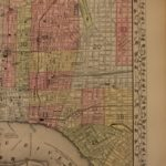 1866 Color Steel Engraved Mitchell Map of City of PHILADELPHIA Pennsylvania