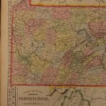 1866 Color Steel Engraved Map of PENNSYLVANIA Pittsburg Philadelphia Quakers