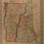 1866 Color Steel Engraved Map of VERMONT New Hampshire New England America