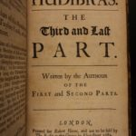 1684 1st edition Samuel Butler HUDIBRAS English Civil Wars English Satire London