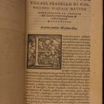 1554 Nuova Cronica New Chronicles of Giovanni Villani Florence Italy Banking