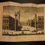 1740 Venice Italy Government Illustrated Venetian Costumes Architecture MAP Ship