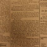 1794 Columbian Centinel Boston Newspaper George Washington Americana Woodcuts