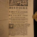 1764 History of Knights Templar Hospitaller of Saint John Crusades Malta Rhodes