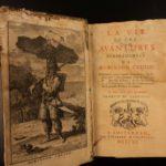 1720 1st ed Robinson Crusoe Daniel Defoe Voyages Illustrated Shipwreck Castaway