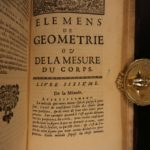 1695 Bernard Lamy Geometry Elements of Euclid Mathematics Archimedes of Syracuse