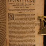 1604 Levinus Leminus Occult Science & Medicine SECRETS Wine Demon Possession