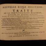 1738 1st ed Military Battle WAR Tactics Guns Cannons Mines Vauban Fortification