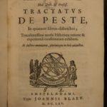 1665 BLACK DEATH & Bubonic Plague Tobacco Treatments Disease Medicine Health