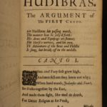 1684 Samuel Butler HUDIBRAS English Civil Wars English Satire London Puritan