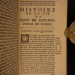 1693 1st ed Louis of Bourbon Prince of CondГ© France WAR French Battles 2v Set