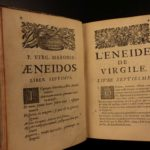 1662 VIRGIL Roman Poetry AENEID Classical Literature ILLUSTRATED French & Latin