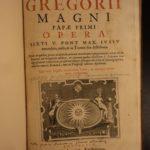 1615 HUGE FOLIO Pope Gregory I Great MIRACLES Greek Monastics Catholic Dialogues