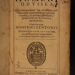 1664 Odyssey of HOMER Classical Trojan War Mythology Greek Latin CAMBRIDGE text