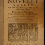 1610 Cento Novelle Illustrated Italian Stories Sansovino Doni 100+ Woodcuts ART