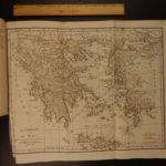 1789 Voyages of Anacharsis ATLAS MAPS Greece Macedonia Greek Geography 8v SET