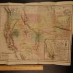 1865 Rocky Mountains Samuel Bowles HUGE MAP Pacific Mormon Expedition California