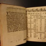 1617 MINIATURE Aphorisms of HIPPOCRATES Greek Medicine Remedies Surgery Health