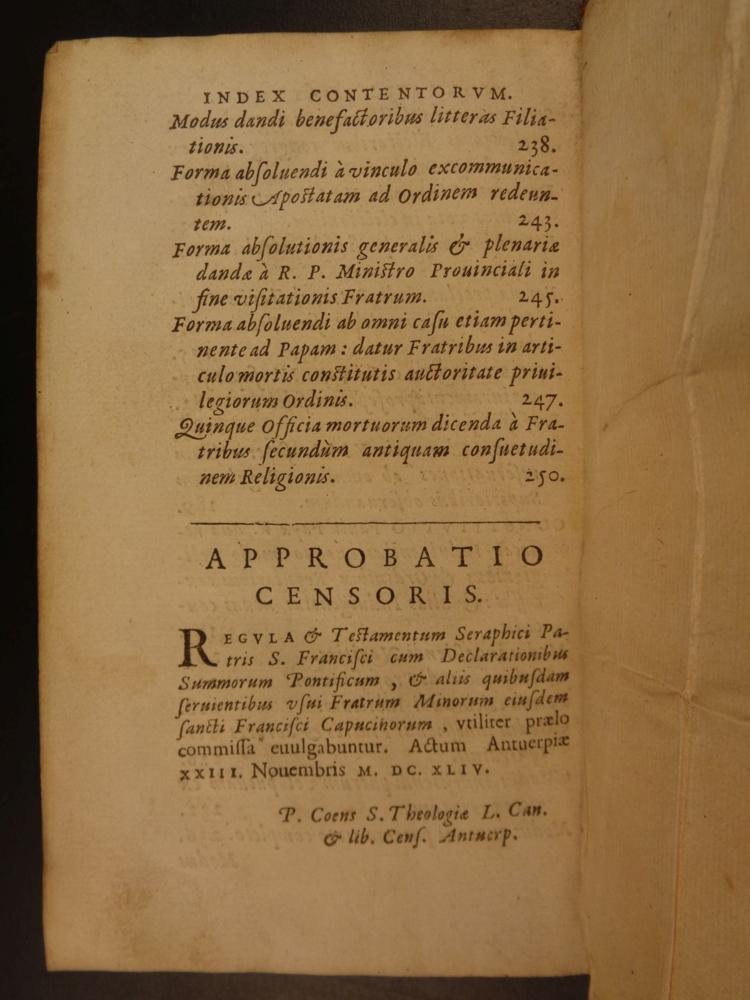 rule of saint francis