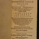 1667 1ed Kircher on Magnetism Magnet Occult Science Physics Phenomena Magneticum