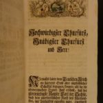 1742 1ed Coronation of Charles VII Holy Roman Emperor Illustrated Fete Festival