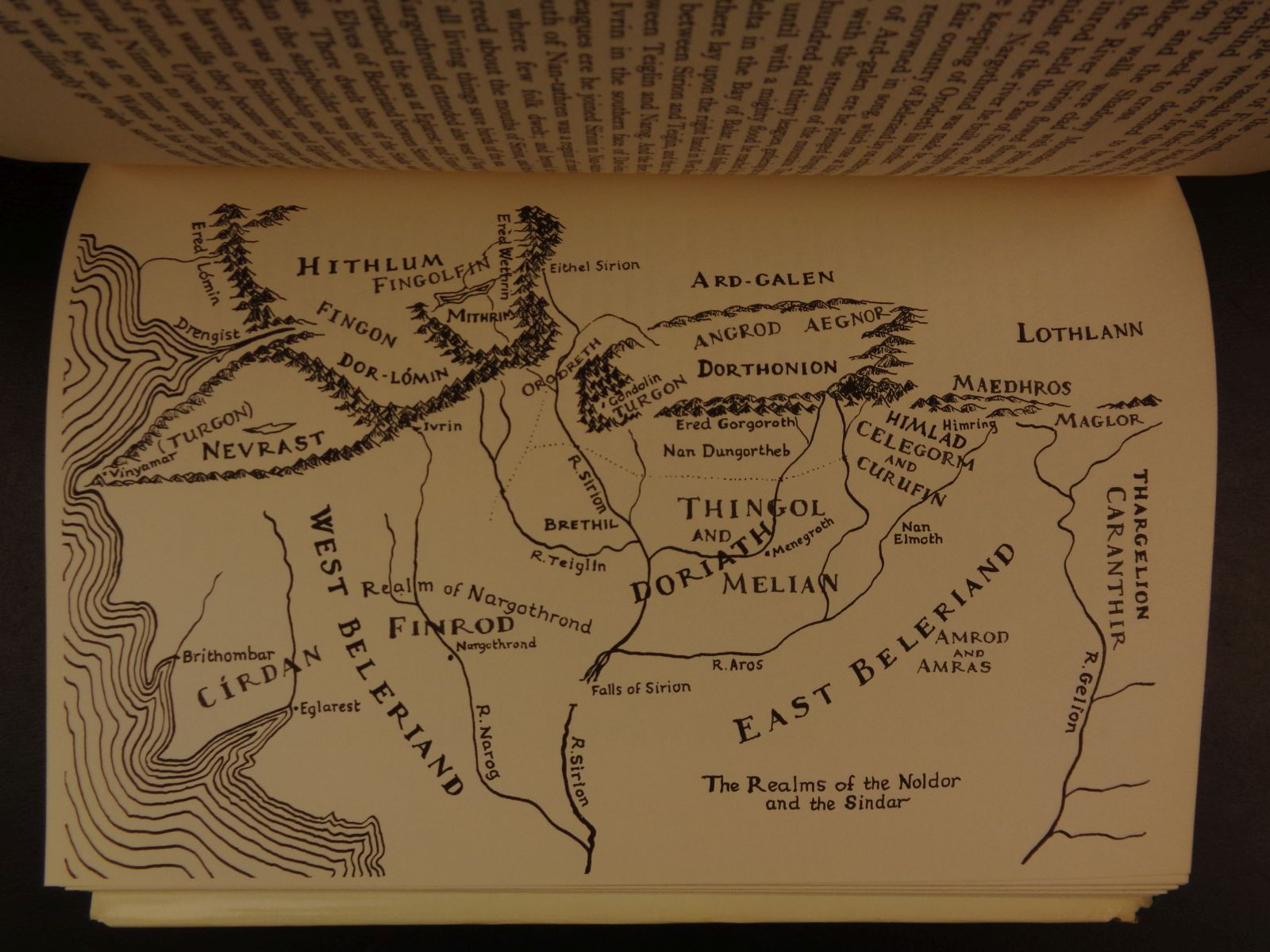1977 1st Us Ed Silmarillion Jrr Tolkien Lord Of The Rings Middle Earth Map